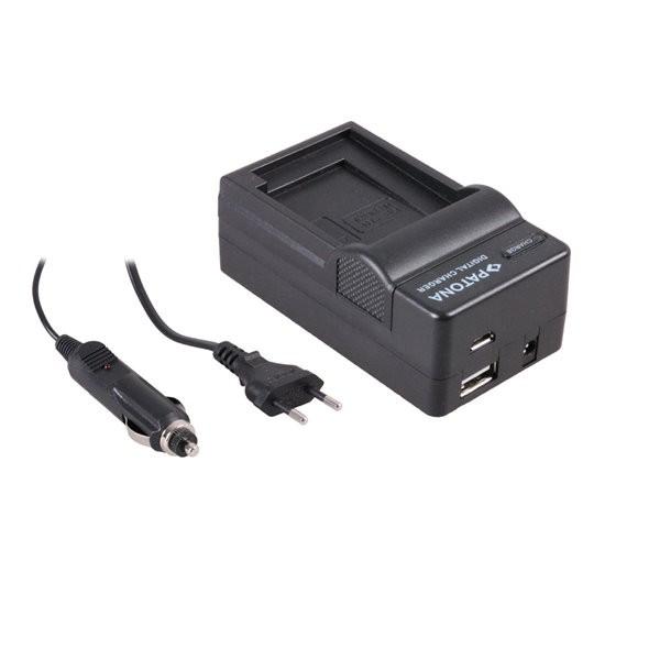 Akku Ladegerät m. micro USB f. Canon Ixus 185